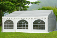 PVC Party Tent 20'x20' - Heavy Duty Party Wedding Tent Canopy - White