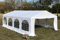 PVC Party Tent 26'x16' - Heavy Duty Party Wedding Tent Canopy - White