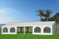 PVC Party Tent 40'x20' - Heavy Duty Party Wedding Tent Canopy - White - Fire Retardant