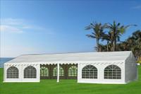 PVC Party Tent 40'x20' - Heavy Duty Party Wedding Tent Canopy - White - Fire Retardant