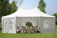 22'x16' Octagonal White  - Poly Party Wedding Tent Canopy