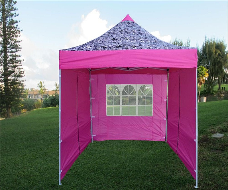 Delta Canopy & 8u0027x8u0027 Pink Zebra - Pop up Tent