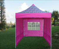 8'x8' Pink Zebra - Pop up Tent