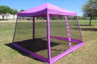 8'x8'/10'x10' Purple Slant Leg - Pop up Tent with Mosquito Net