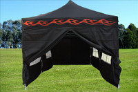 Black Flame 10'x20' Pop up Tent with 6 Sidewalls - F Model Upgraded Frame