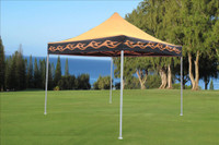 Orange Flame 10'x10' Pop up Tent with 4 Sidewalls - F Model Upgraded Frame