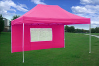 Pink 10'x15' Pop up Tent with 4 Sidewalls - E Model