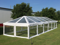60'x20' Clear PVC ComBi Tent - Heavy Duty Party Wedding Tent Canopy Gazebo