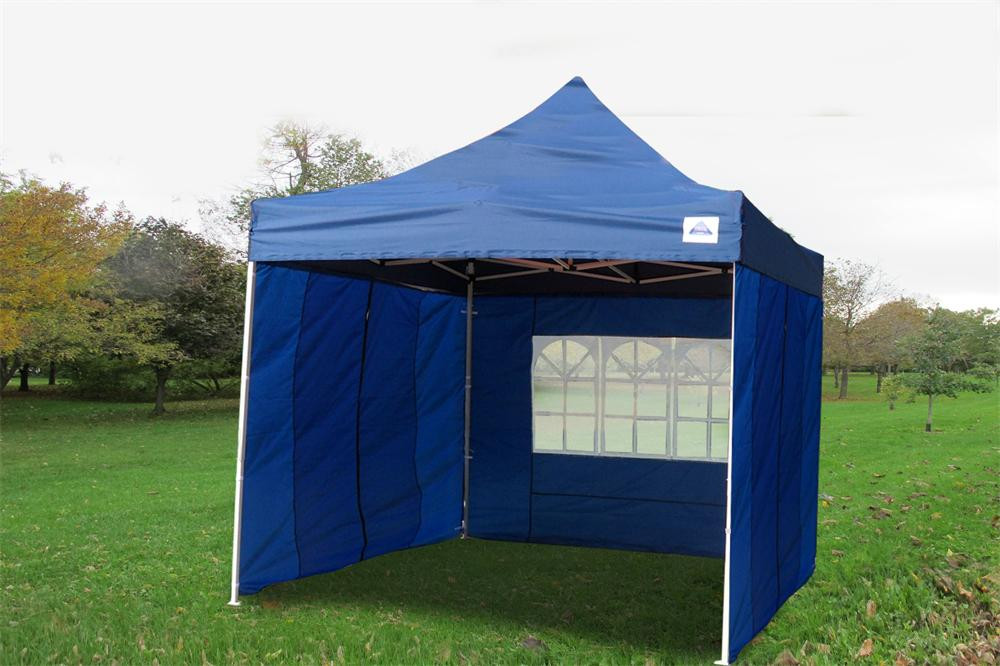 Navy Blue 10'x10' Pop up Tent with 4 Sidewalls - F Model Upgraded Frame