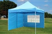 Sky Blue 10'x10' Pop up Tent with 4 Sidewalls - E Model