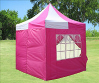 8'x8' Pink White - Pop up Tent
