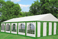 PE Party Tent 32'x16' Green White  - Heavy Duty Wedding Canopy