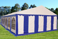 PE Party Tent 40'x20' Blue White - Heavy Duty Wedding Canopy