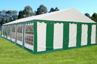 PE Party Tent 40'x20' Green White - Heavy Duty Wedding Canopy