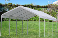 PE Carport Shelter 18'x27' White