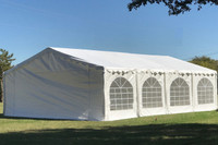 Budget PE Wedding Party Tent Canopy Shelter with Waterproof Top - 20'x20', 26'x20', 32'x20', 40'x20'
