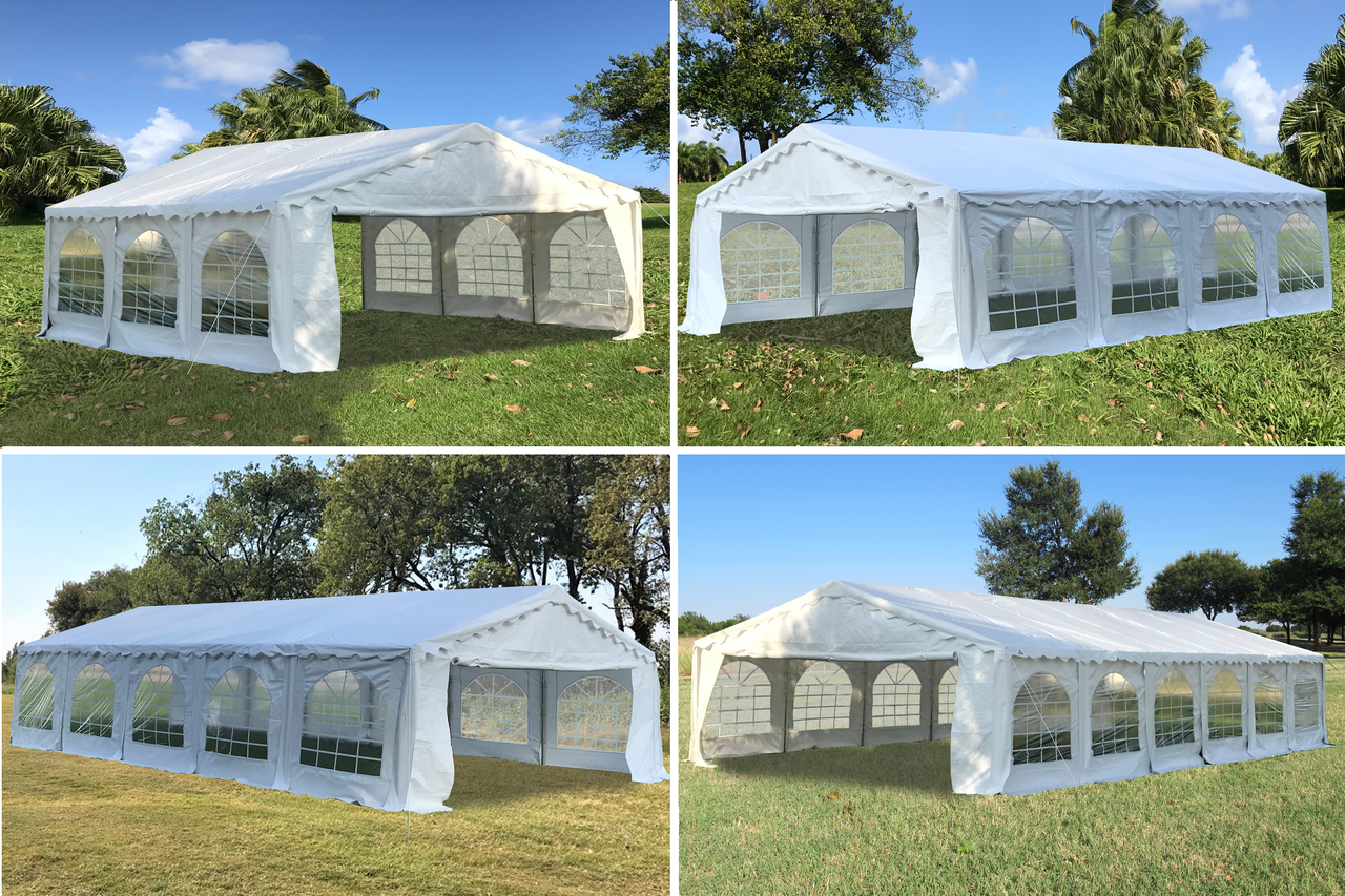 new product dc447 3351c Budget PVC Wedding Party Tent Canopy Shelter White - 20'x20', 26'x20',  32'x20', 40'x20'
