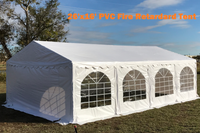 26'x16' PVC Party Tent (FR) Wedding Canopy Shelter -  Fire Retardant - White
