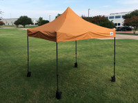10'x10' D Model Burnt Orange - Pop Up Canopy Tent EZ  Instant Shelter w Wheel Bag + Sand Bags