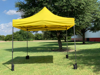 10'x10' D Model Yellow - Pop Up Canopy Tent EZ  Instant Shelter w Wheel Bag + Sand Bags