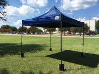 10'x10' D Model Navy Blue - Pop Up Canopy Tent EZ  Instant Shelter w Wheel Bag + Sand Bags