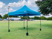 10'x10' D Model Turquois - Pop Up Canopy Tent EZ  Instant Shelter w Wheel Bag + Sand Bags