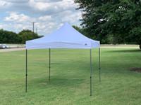 10'x10' D Model White - Pop Up Canopy Tent EZ  Instant Shelter w Wheel Bag + Sand Bags