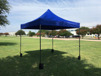 10'x10' D Model Blue - Pop Up Canopy Tent EZ  Instant Shelter w Wheel Bag + Sand Bags