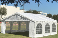 20'x16' Budget PVC Wedding Party Tent Canopy Shelter - White
