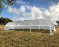 Large Walk-in Nursery Greenhouse - 40'x16' Clear with Round Arch