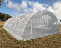 Large Walk-in Nursery Greenhouse - 40'x23' Clear with Round Arch