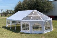 40'x21' PVC Marquee with Bay Windows - Heavy Duty Large Party Tent Wedding Canopy Gazebo Shelter w Storage Bags
