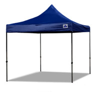 10'x10' D/S Model Navy Blue - Pop Up Canopy Tent EZ  Instant Shelter w Wheel Bag + Sand Bags + 4 Walls