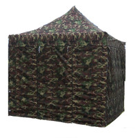 10'x10' D/S Model Camouflage - Pop Up Canopy Tent EZ  Instant Shelter w Wheel Bag + Sand Bags + 4 Walls