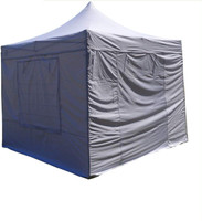 10'x10' D/S Model White/Fire Retardant - Pop Up Canopy Tent EZ  Instant Shelter w Wheel Bag + Sand Bags + 4 Walls