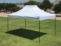 10'x15' D Model White - Pop Up Canopy Tent EZ  Instant Shelter w Wheel Bag + Sand Bags