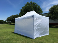 10'x15' D/S Model White - Pop Up Canopy Tent EZ Instant Shelter w Wheel Bag + Sand Bags