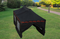 10'x20' D/W Model Black Flame - Pop up Tent with 4 Window Walls + 4 Sand Bags + Wheel Bag