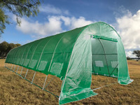 Large Walk-in Nursery Greenhouse - 40'x13' with Round Arch