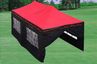 Red Flame 10'x20' Pop up Tent with 6 Sidewalls - F Model Upgraded Frame