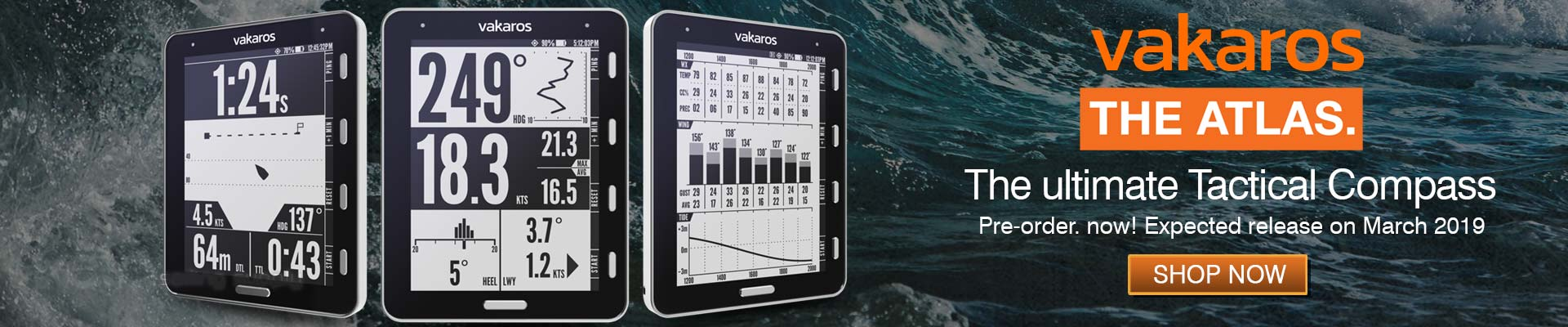 Vakaros Wireless Tactical Compass