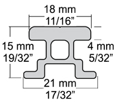 Harken 32mm Switch Mast Track