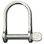 Ronstan Shackle, Wide Dee, Pin 3/16in, L:28mm, W:21mm