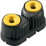 Ronstan Medium 'C-Cleat' Cam Cleat Fluoro-Yellow, Black Base