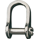 "Ronstan Shackle, Standard Dee, Slotted Pin 5/32"", L:15mm,W:10mm"