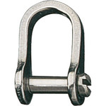 "Ronstan Shackle, Standard Dee, Slotted Pin 5/32"", L:13mm, W:8mm"