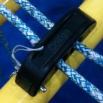 Colligo Marine Quick release line guide, 2 line, deck mount, Delrin