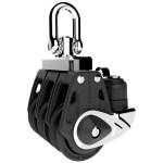 Lewmar 40mm Synchro Block Triple Cam Bk