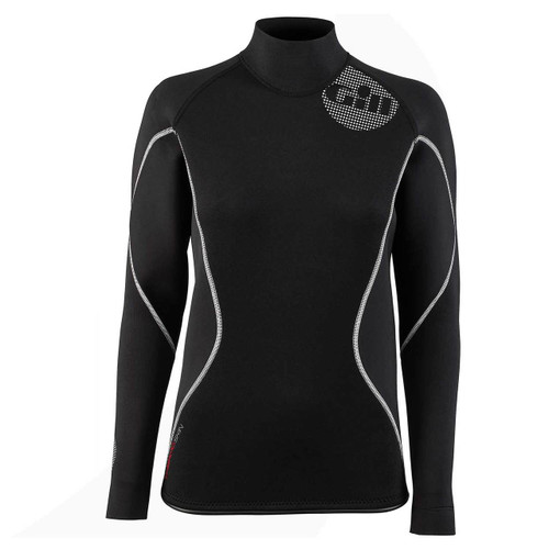 Gill Women's Thermoskin Top Black/Red