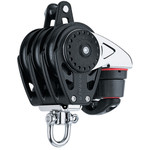 Harken 57mm Triple Carbo Block w/Cam Cleat and Becket